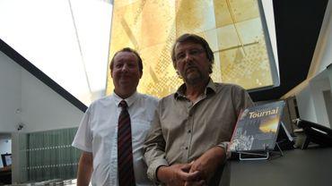 """Pierre Peeters et Benard Desmael, auteurs de """"Découvrir Tournai"""""""