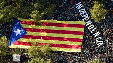 Vue aérienne de la manifestation