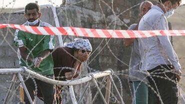Migrants à Lesbos en Grèce