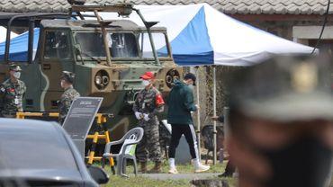 Le joueur sud-coréen de Tottenham Son Heung-min a débuté sa formation militaire