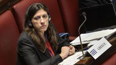 Zoé Konstantopoulou, la bouillonnante présidente de la Vouli, au coeur de la fronde contre Alexis  Tsipras.