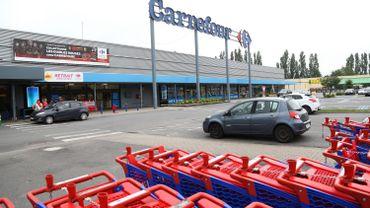 Un supermarché de la chaîne Carrefour, à l'origine de la colère du prévenu.