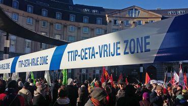 Manifestation anti-CETA à Bruxelles en janvier dernier