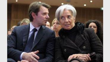 La ministre française de l'Economie, Christine Lagarde, et François Baroin, ministre français du Budget, le 3 mars 2011 à Bercy