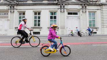 Le nombre de cyclistes augmente. Rue de la Loi, ils sont plus de 1000 par heure.