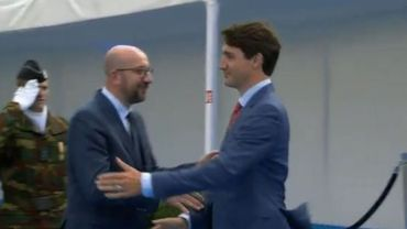 Justin Trudeau s'amuse de Charles Michel au sommet de l'Otan (vidéo)