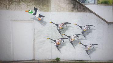 L'artiste Oakoak ajoute une dizaine d'oeuvres au parcours Street Art de Bruxelles