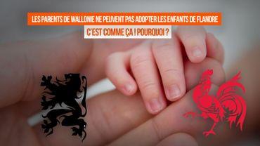 Imbroglio à la belge : un Wallon ne peut pas adopter un enfant flamand