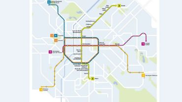 Le tracé de la future ligne 3 de métro (en vert)