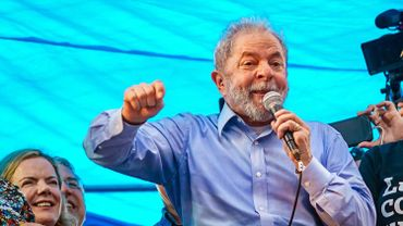 L'ancien président brésilien Luiz Inacio Lula da Silva à Porto Alegre, le 23 janvier 2018.