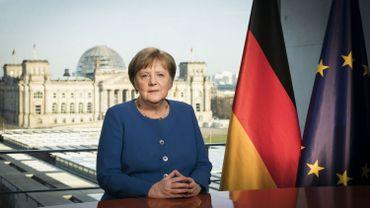 La chancelière allemande Angela Merkel s'est exprimées ce 18 mars dans une adresse télévisée aux Allemands.