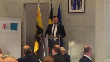 Christophe Baes, lors de son discours au palais provincial