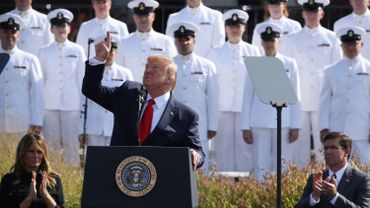 Donald Trump prononce son discours