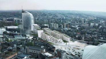 L'une des simulations du projet d'aménagement de l'esplanade des Guillemins.