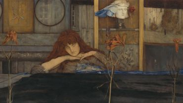 Khnopff, I lock my door upon myself - Munich Neue Pinakothek