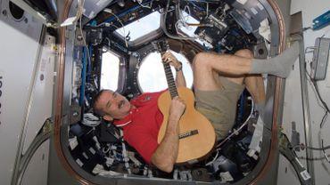 Chris Hadfield à bord de la Station spatiale internationale