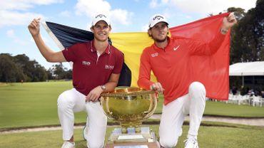 Pieters et Detry remportent la Coupe du monde de golf, une première pour la Belgique