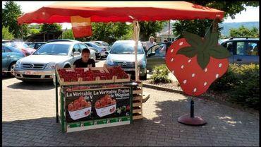 Vendeur de fraises à Wépion