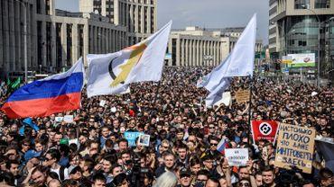 A Moscou, des milliers de Russes dans la rue pour dénoncer le blocage de Telegram