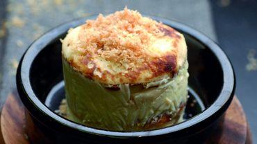 Recette : Mille-feuilles de pancakes à la banane et crème de yaourt
