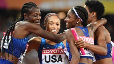 16e médaille pour Allyson Felix, sacrée avec les Américaines sur 4x400 m