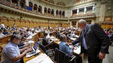 Le Conseil national suisse à Berne, le 18 juin 2013