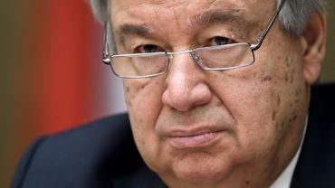 """""""Toute utilisation d'armes chimiques est horrible"""", a déclaré AntonioGuterres."""