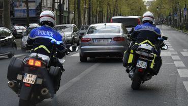 Des motards de la police française