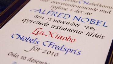 Le prix Nobel de la Paix 2010 au Chinois Liu Xiaobo