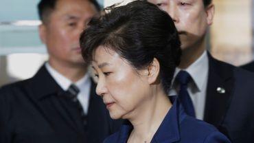 L'ex-présidente sud-coréenne Park Geun-Hye, le 30 mars 2017 à Séoul