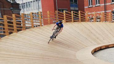 Un vélodrome en libre-service dans l'ancienne école de gendarmerie d'Ixelles