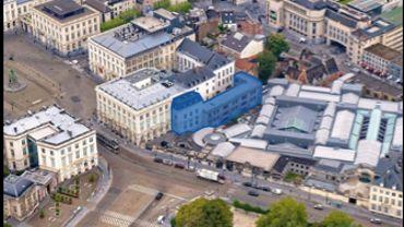 Le futur Musée du CHAT, en bleu sur la photo