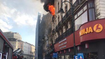 L'incendie a eu lieu rue de la Vierge Noire.