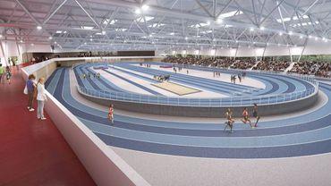 L'une des esquisses de la future piste indoor de Louvain-la-Neuve.
