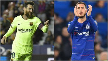 Lionel Messi et Eden Hazard