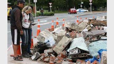 Des victimes du séisme de Christchurch, le 25 février 2011