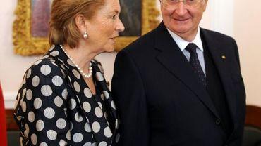 Le couple royal lors d'une visite en Allemagne