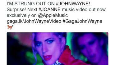 """Le clip de """"John Wayne"""" est extrait de """"Joanne"""", le cinquième album studio de Lady Gaga"""