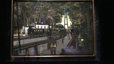 """La gare forestiere"" de Paul Delvaux"