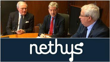 Les trois administrateurs indépendants de Nethys: Philippe Delaunois, ex-CEO de Cockerill Sambre, Pierre Meyers, ancien vice-président de CMI et du groupe FN et Diego Aquilina, directeur d'Intégrale