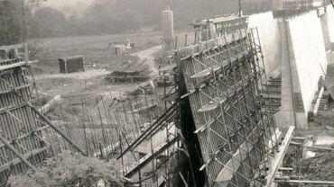 Les débuts de la construction des Barrages de l'Eau d'Heure