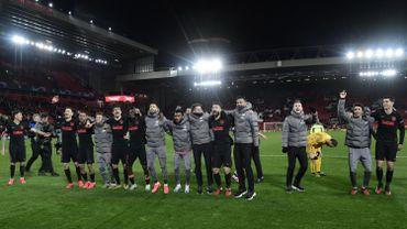 Les joueurs de l'Atletico Madrid, tombeurs de Liverpool en C1