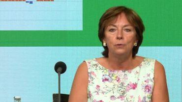 Frédérique Jacobs, porte-parole du centre de crise