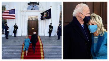 Joe et Jill Biden, nouveaux locataires de la Maison-Blanche, à Washington, le 20 janvier 2021