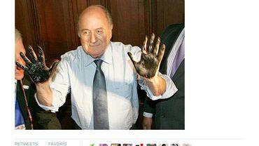 Le président Sepp Blatter n'a pas été épargné par les internautes