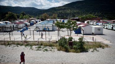 Vue du camp de Malakassa, situé à 50 km au nord d'Athènes