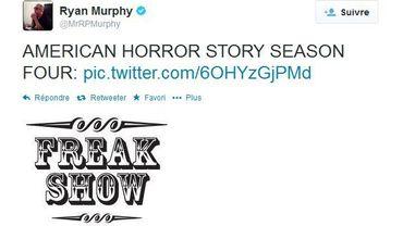 """La quatrième saison d'""""American Horror Story"""" se baptisera """"Freak Show"""""""