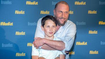 """François Damiens et son """"Ket"""" Matteo Salamone, à l'avant première du film """"Mon Ket"""""""