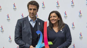 Tony Estanguet avec la maire de Paris Anne Hidalgo