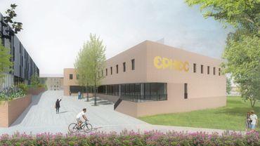 La construction de la nouvelle aile de l'EPHEC à Louvain-la-Neuve a démarré il y a deux semaines. Elle sera composé de trois auditoires et de salles polyvalentes. Des lieux destinés à absorber la hausse du nombre d'étudiants.